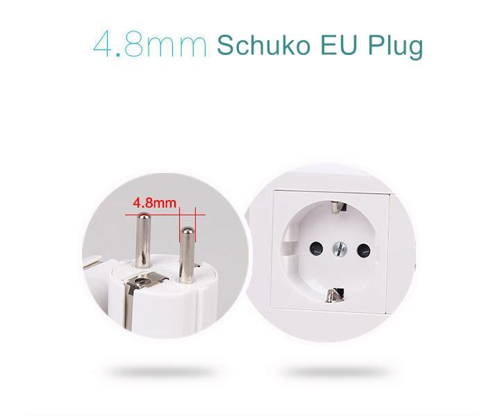 US UK AU To EU Europe Travel Charger Power Adapter Converter Wall Plug Schuko